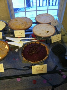 Half table pies